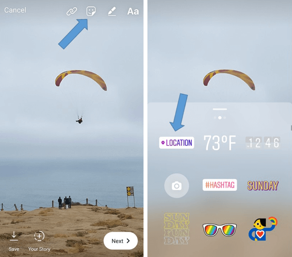 LOCATION - How and when to Use Stickers to Boost Engagement on Your Instagram Stories