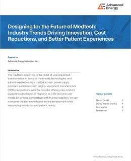 Designing for the Future of Medtech: Industry Trends Driving Innovation, Cost Reductions, and Better Patient Experiences