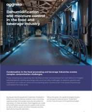 Dehumidification and Moisture Control in the Food and Beverage Industry