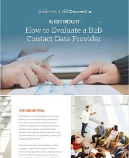 Buyer's Checklist: How to Evaluate B2B Contact Data Provider