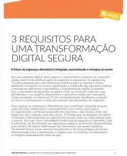 3 REQUISITOS PARA UMA TRANSFORMAÇÃO DIGITAL SEGURA