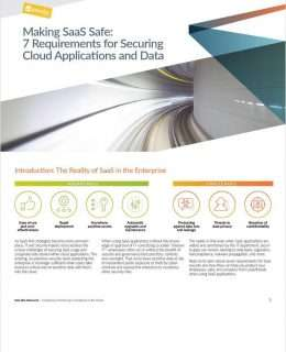 Making SaaS Safe: 7 Requirements for Securing Cloud Applications and Data
