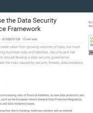 8 190x230 - How to Use the Data Security Governance Framework