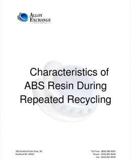 Characteristics of ABS Resin During Repeated Recycling