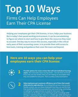 Top 10 Ways Firms Can Help Employees Earn Their CPA License