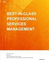 Best-in-class Professional Services Management