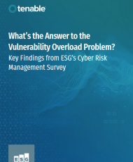Screenshot 2019 08 12 Whats the answer to the vulnerability overload problem Key findings from ESGs Cyber Risk Management s... 190x230 - What's the answer to the vulnerability overload problem?