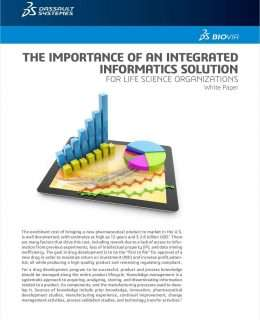 THE IMPORTANCE OF AN INTEGRATED INFORMATICS SOLUTION FOR LIFE SCIENCE ORGANIZATIONS
