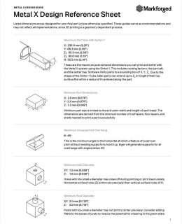 Metal X Design Reference Sheet