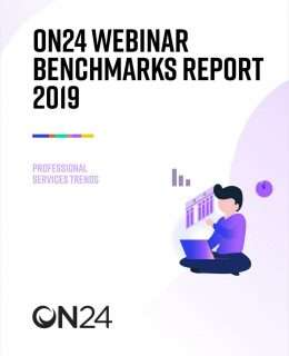 Webinar Benchmarks Report for Professional Services 2019