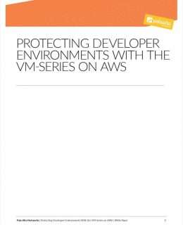 Protecting Developer Environments with VM-Series on AWS