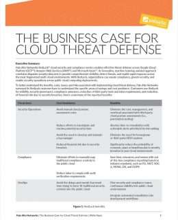 Business Case for Cloud Threat Defense