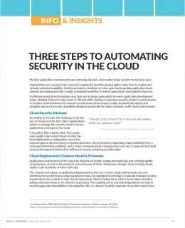 3 Steps to Automating Security in the Cloud