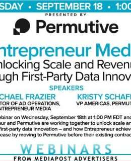 Entrepreneur Media: Unlocking scale and revenue through first-party data innovation