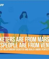 Marketers are from Mars, Salespeople are from Venus