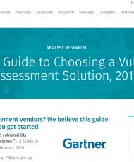 1first campg 190x230 - Gartner: A Guide to Choosing a Vulnerability Assessment Solution, 2019