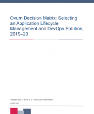 ovum decision matrix selecting an application lifecycle management and devops solution 201920 13026913USEN 190x230 - Ovum Decision Matrix:  ALM and DevOps, 2019–20