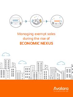 1 1 - Managing exempt sales during the rise of economic nexus