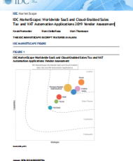 10 190x230 - IDC MarketScape: Worldwide SaaS and Cloud-Enabled Sales  Tax and VAT Automation Applications 2019 Vendor Assessment