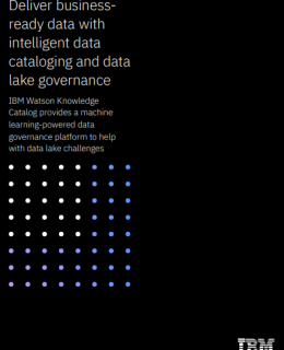 Deliver business ready data with intelligent data cataloging and data lake governance 260x320 - Deliver business-ready data with intelligent data cataloging and data lake governance