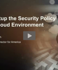 how to setup 190x230 - Security Policy Guidelines for Your Cloud Environment