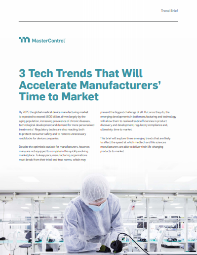 3 tech - 3 Tech Trends That Will Accelerate Manufacturers' Time to Market