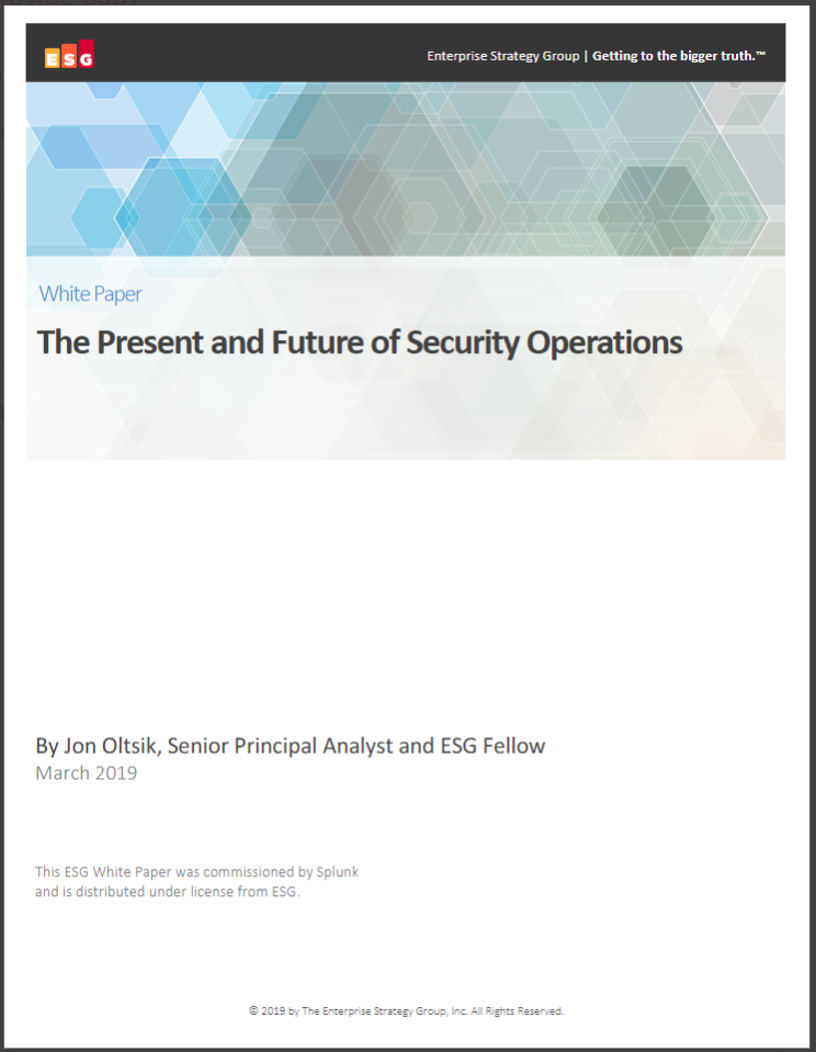 the present and future of security operations 1 - The Present and Future of Security Operations