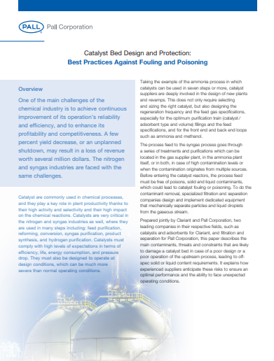 1 3 - Catalyst Bed Design and Protection: Best Practices Against Fouling and Poisoning