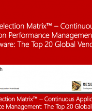 venor 190x230 - Continuous Application Performance Management SaaS and Software: Market Overview and Top Vendors