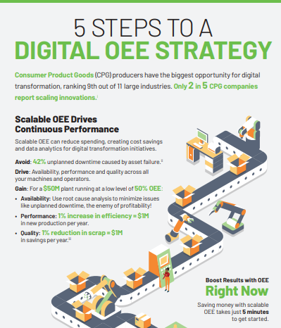 5 steps to a Digital OEE - Infographic: 5 Step to a Digital OEE Stragety for Metals & Cement