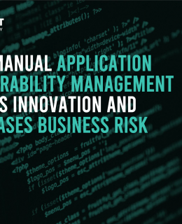 Screenshot 2020 09 25 How Manual Application Vulnerability Management Delays Innovation And Increases Business Risk eBook 0... 260x320 - HOW MANUAL APPLICATION VULNERABILITY MANAGEMENT DELAYS INNOVATION AND INCREASES BUSINESS RISK