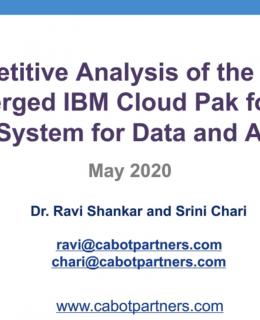 Screenshot 2020 10 20 at 15.06.42 260x320 - Cabot Webinar: Data and AI preconfigured, IBM Cloud Pak for Data System vs. the competition