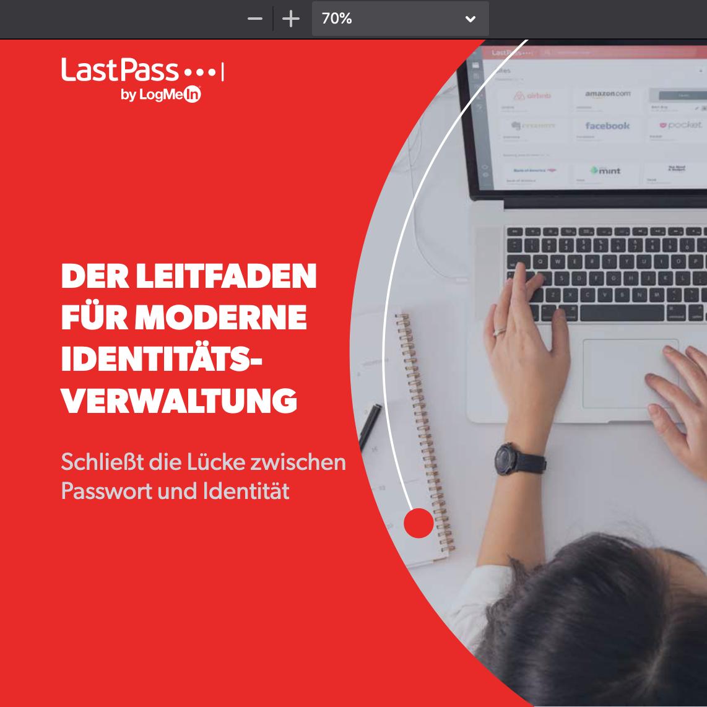 Screenshot 2020 10 24 eBook LastPass Guide to Modern Identity DE pdf 1 - Leitfaden für moderne Identitätsverwaltung