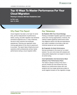 Screenshot 2020 11 24 Top 10 Ways To Master Performance For Your Cloud Migration pdf 260x320 - Forrester Report: Top 10 Ways to Master Performance for Your Cloud Migration