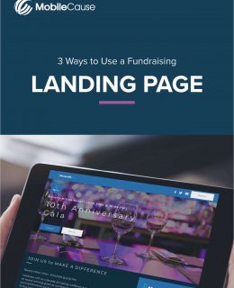 3 Ways to Use a Fundraising Landing Page