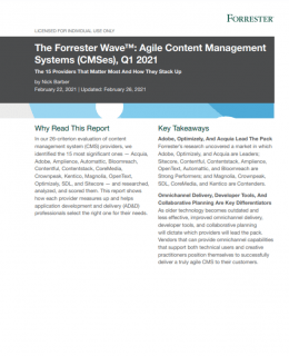 1 6 260x320 - The Forrester Wave™: Agile Content Management Systems (CMSes), Q1 2021